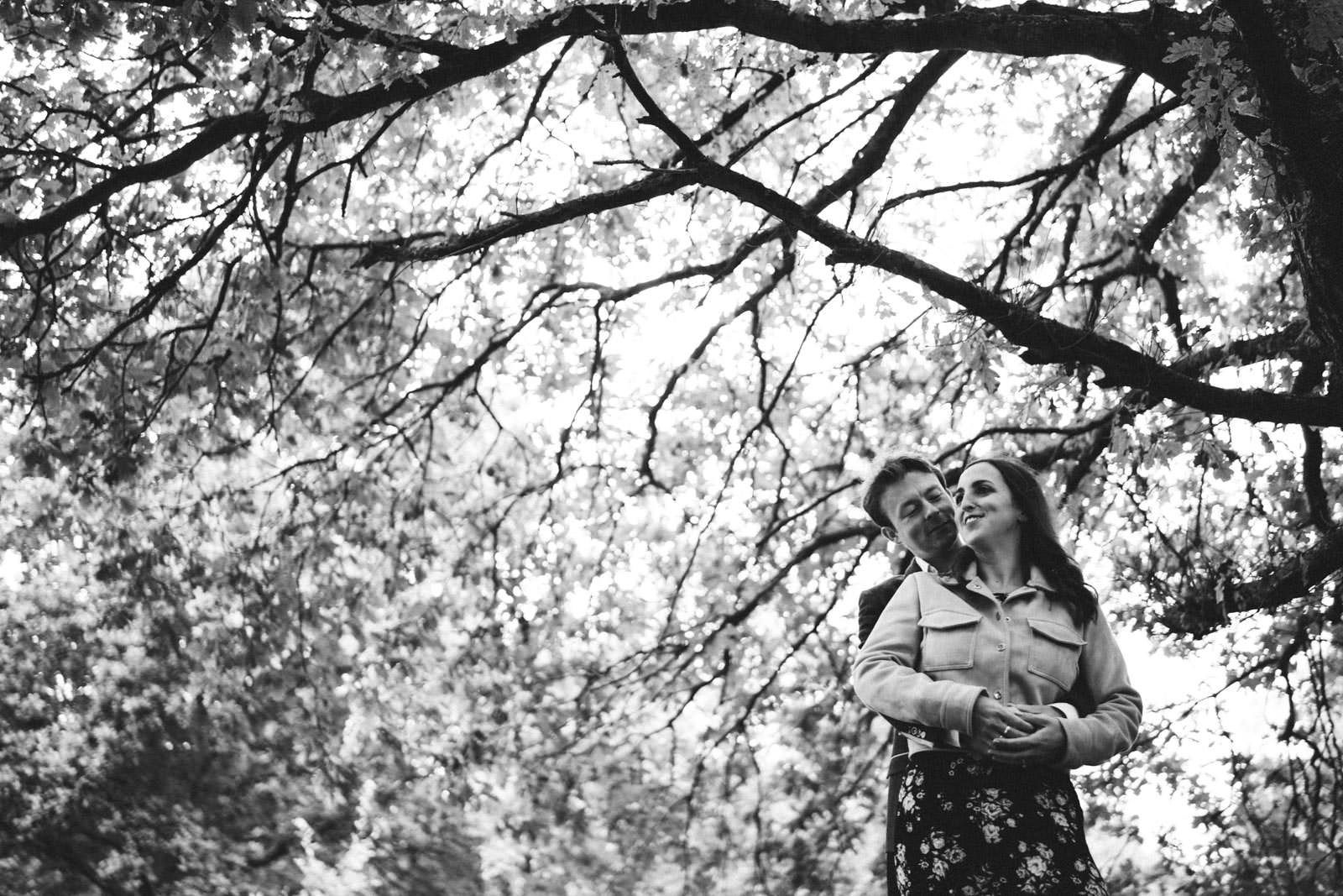 Photo of a couple hugging one another